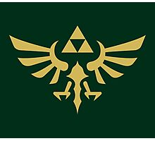 The Legend of Zelda Royal Crest (gold) Photographic Print