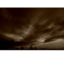 Awe Swepted Sky Photographic Print
