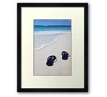 Australian flag thongs beach vacation celebration patriotic  Framed Print