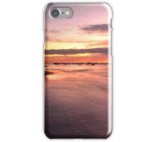 Magnificent sunrise high tide at Bateau Bay rockshelf seascape iPhone Case/Skin