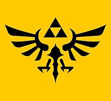 The Legend of Zelda Royal Crest (black) by hopperograss
