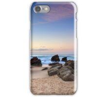 Shark tower at Redhead beach Australia sunrise seascape iPhone Case/Skin