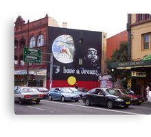 I have a Dream ..... mural in Kings Street Newtown Canvas Print