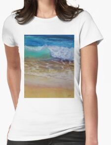 Wave at the shore Womens Fitted T-Shirt