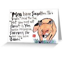 Wise Fox Greeting Card