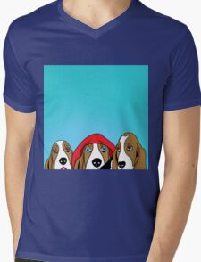 dogs  Mens V-Neck T-Shirt