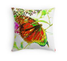 Gossamer Wings Red ©  Throw Pillow