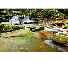 Tranquility waterfalls and moss covered rocks Photographic Print