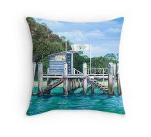 Currawong Beach Wharf Throw Pillow