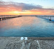 Sunrise Swim North Narrabeen Australia seascape by Leah-Anne Thompson
