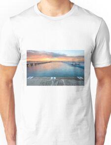 Sunrise Swim North Narrabeen Australia seascape Unisex T-Shirt