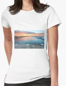 Sunrise Swim North Narrabeen Australia seascape Womens Fitted T-Shirt