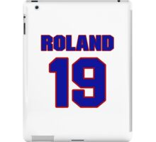 National baseball player Jim Roland jersey 19 iPad Case/Skin