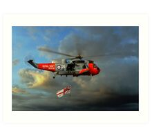 Royal Navy Search and Rescue (End of an Era) Art Print