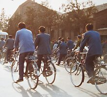 Going to work Beijing May 1981 by Susan Moss