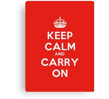 Keep Calm And Carry On Poster Canvas Print
