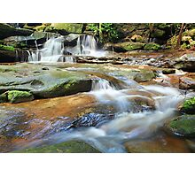 Waterfalls and little stream Australia landscape Photographic Print