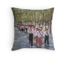 School children  Tianjin May 1981 Throw Pillow