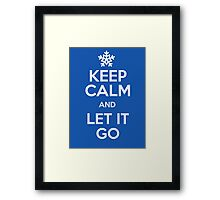 Keep calm and let it go - Frozen Framed Print