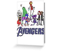 The Cute Avengers Greeting Card