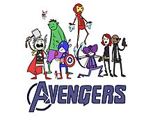 The Cute Avengers Photographic Print