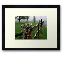 Barriers and mist Framed Print