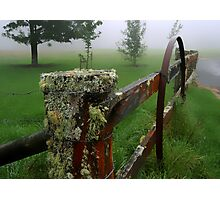 Barriers and mist Photographic Print