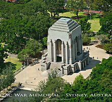 Anzac War Memorial - Sydney, Australia (Photo Finish) by Brian Farrell