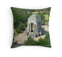 Anzac War Memorial - Sydney, Australia (Textured Canvas Finish) Throw Pillow
