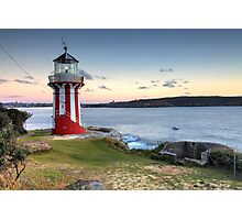 The Hornby Lighthouse, Sydney Australia, sunrise seascape Photographic Print