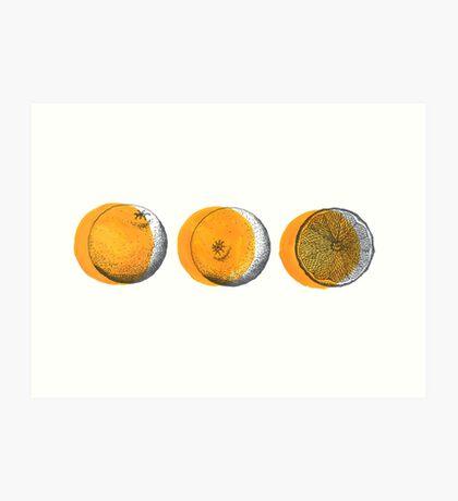 shifty orange  Art Print