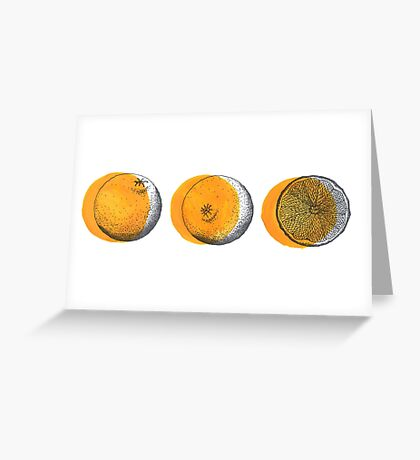 shifty orange  Greeting Card