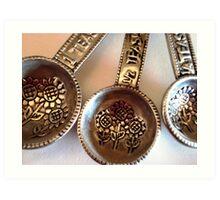 Measuring Spoons Art Print