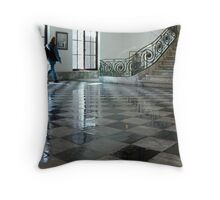 Checkerboard floor Throw Pillow