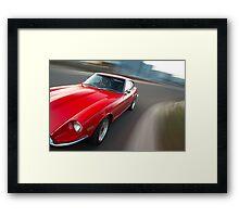 Red Datsun 260Z rig shot Framed Print