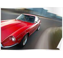 Red Datsun 260Z rig shot Poster