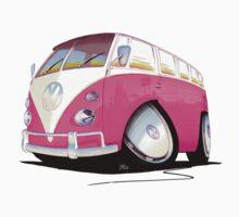 VW Splitty Camper Van Pink