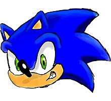 Sonic the Hedgehog. The Iconic Head Photographic Print
