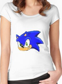 Sonic the Hedgehog. The Iconic Head Women's Fitted Scoop T-Shirt