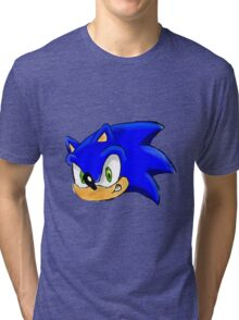 Sonic the Hedgehog. The Iconic Head Tri-blend T-Shirt