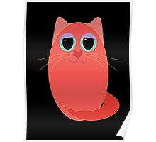CAT RED ONE Poster