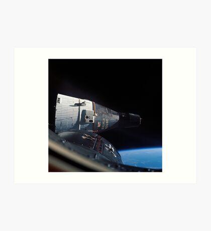 Gemini 7 spacecraft as seen from Gemini 6 in orbit around the earth - Historic Photo Art Print