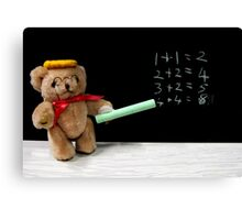 Teacher Ted Finally gets his Sums Right Canvas Print