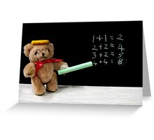 Teacher Ted Finally gets his Sums Right Greeting Card