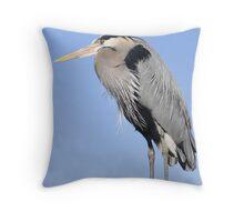 lone heron Throw Pillow