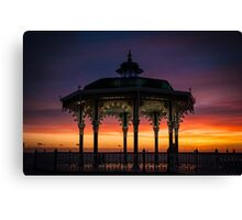 Brighton Bandstand Sunset Canvas Print