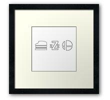 Eat Sleep Smash (Smash Bros) Framed Print