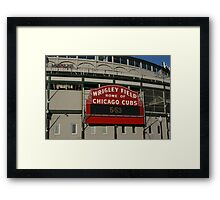 Wrigley Field, Chicago Framed Print