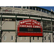 Wrigley Field, Chicago Photographic Print