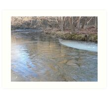 Ice Forming On The Banks Art Print